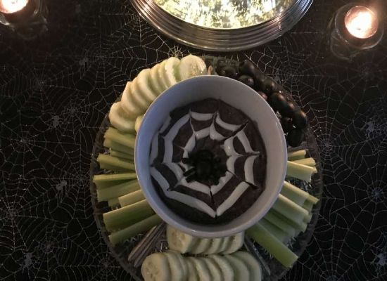 Haunted Mansion Black Bean Dip
