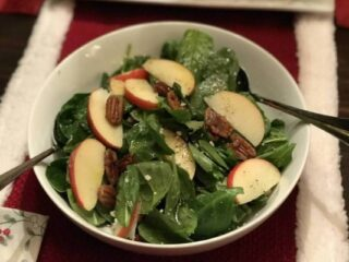 Holiday Spinach Pecan Salad
