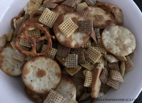 Homemade Bold Chex Mix