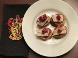 Gryffindor Turkey Cranberry Crostini