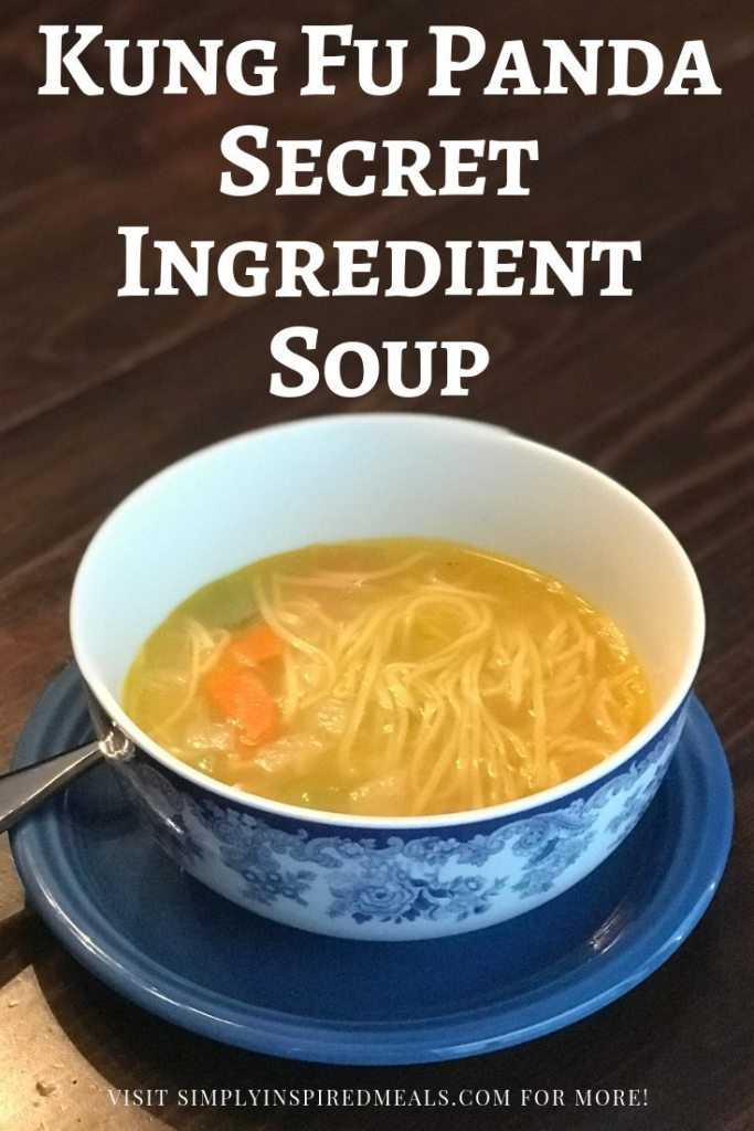 Kung Fu Panda Secret Ingredient Noodle Soup