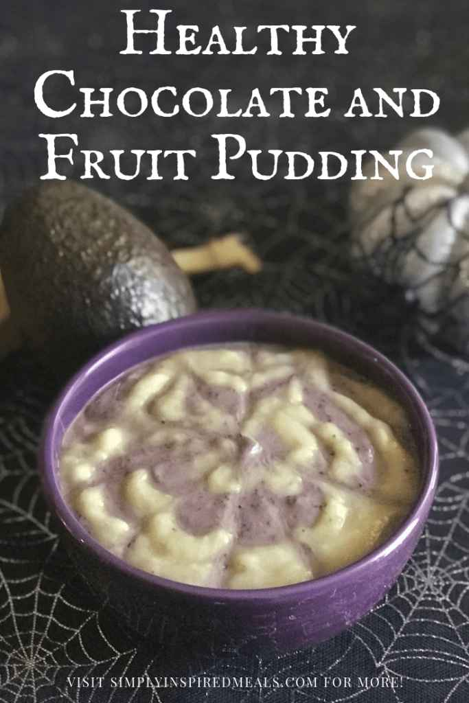 Healthy Chocolate and Fruit Pudding