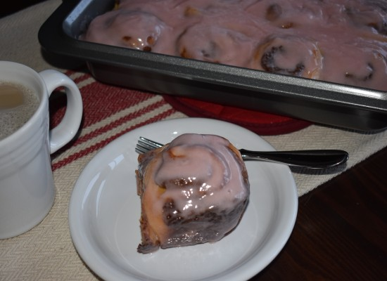 Blood Orange Cinnamon Rolls