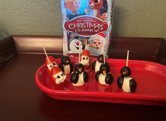 Santa and Topper the Penguin Appetizers