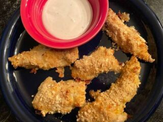 Baked Parmesan Cracker Chicken Tenders