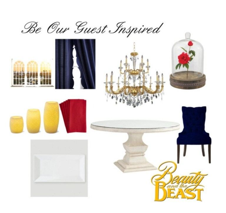 Be Our Guest Inspired Dining Room