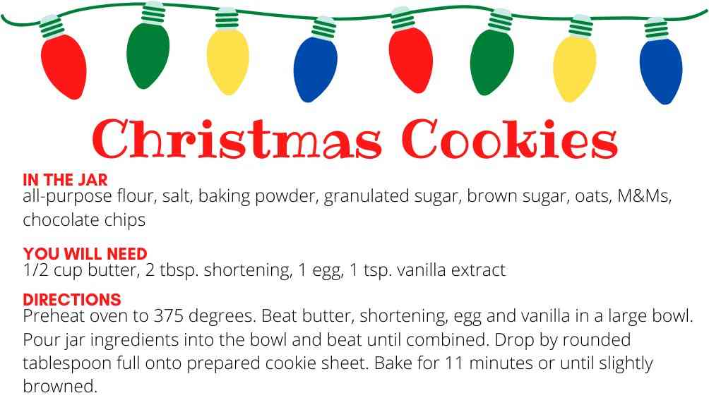 Christmas Cookies Tag instructions