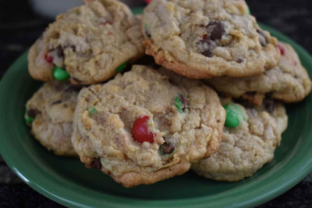 Christmas M&M Cookies