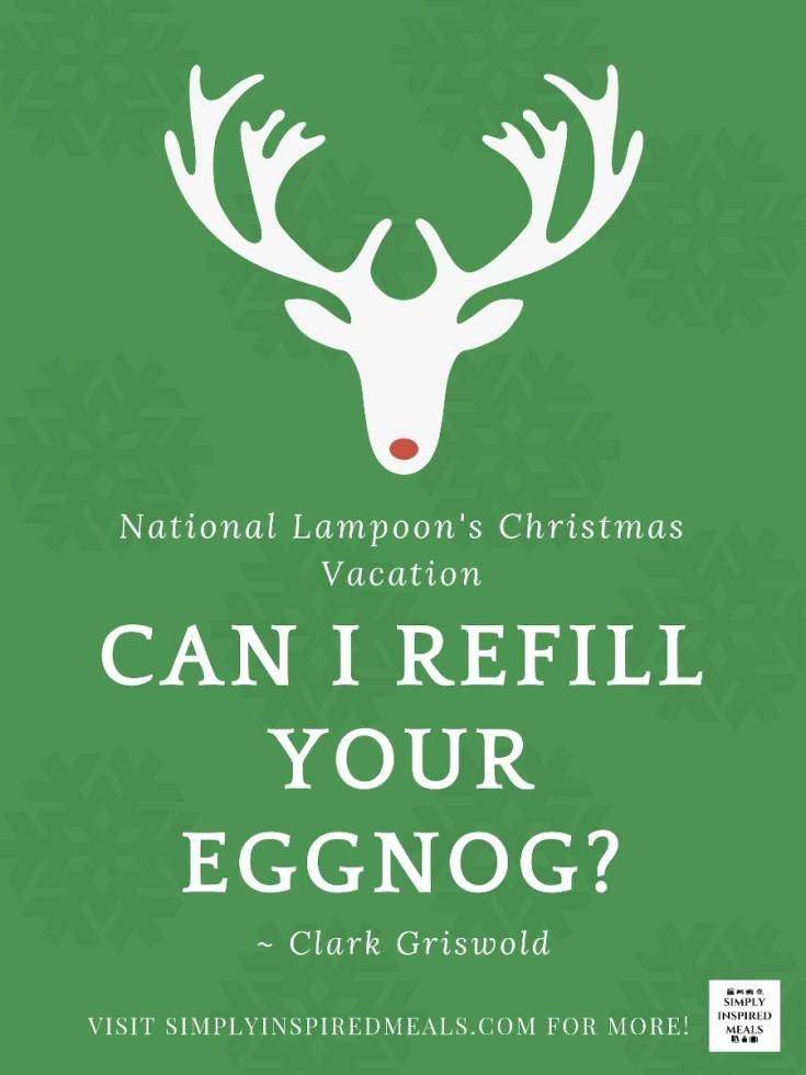 Christmas Vacation Eggnog Printable