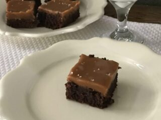 Decadent Salted Caramel Brownie