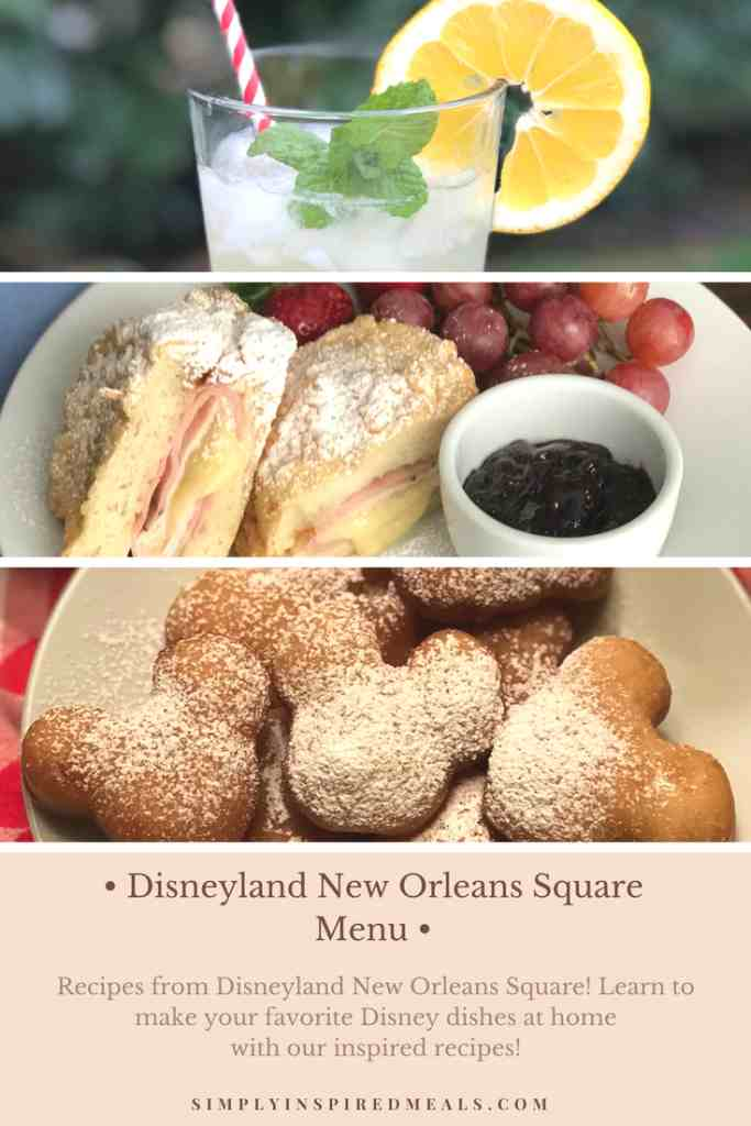 Disneyland New Orleans Square Menu