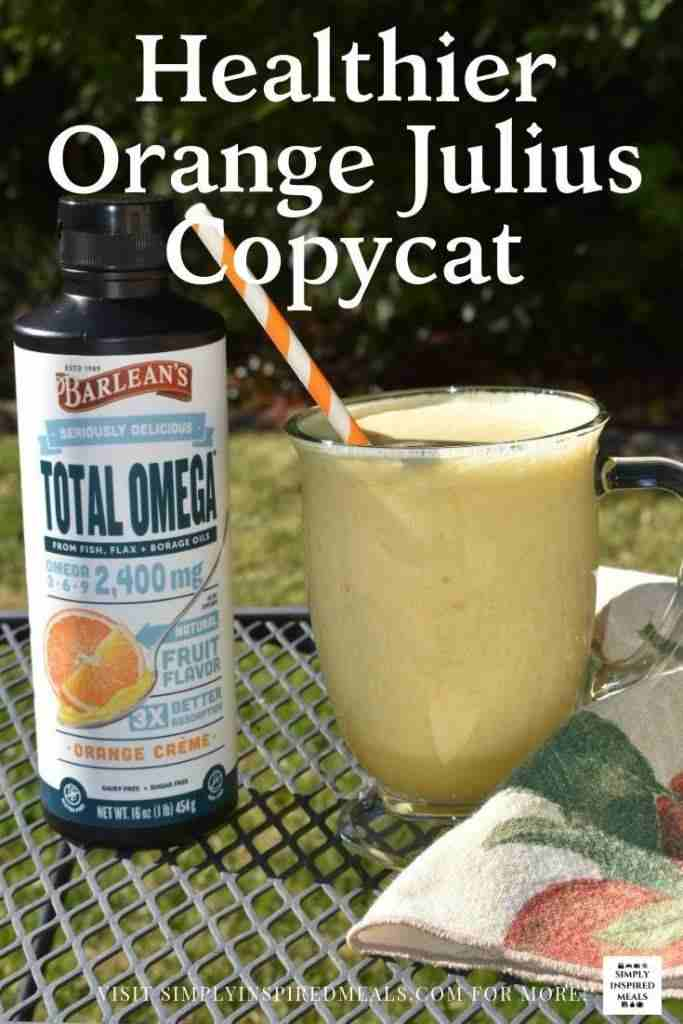 Healthier Orange Julius Copycat