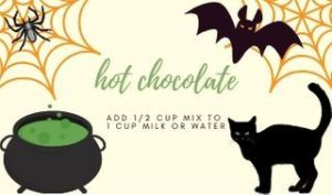 Hot Chocolate Mix Halloween Tag