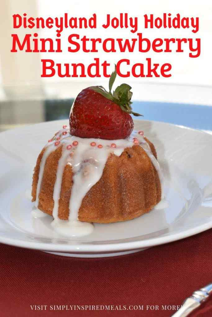 Mini Strawberry Bundt Cake