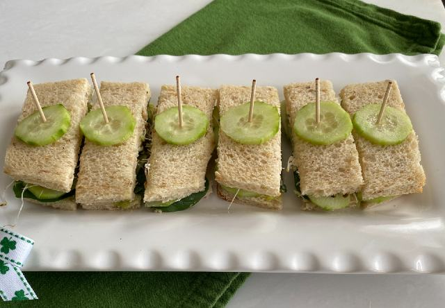 Cucumber Avocado Tea Sandwich
